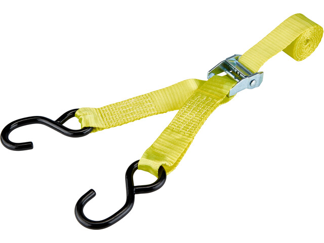 CAMPZ Lashing Belt with Double S-Hook 3,5cm x 3m, yellow